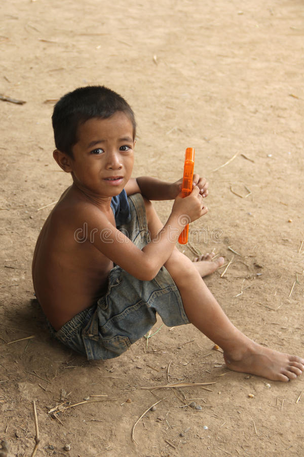 Download Cambodian Boy editorial image. Image of happy, play, cambodian - 15858950