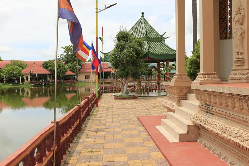 Cambodian Buddhist Centre Phnom Penh. Cambodian Buddhist Centre commemorates the Buddhist religion while describing its history. Located across many hectares in royalty free stock photo