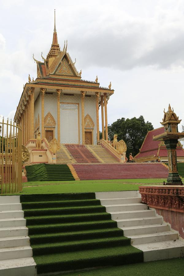 Cambodian Buddhist Centre Phnom Penh. Cambodian Buddhist Centre commemorates the Buddhist religion while describing its history. Located across many hectares in stock photo