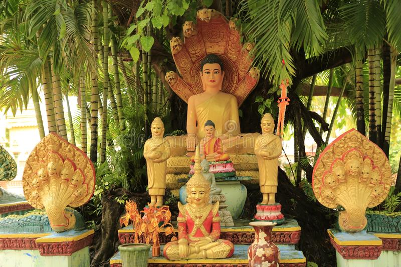 Cambodian Buddhist Centre Phnom Penh. Cambodian Buddhist Centre commemorates the Buddhist religion while describing its history. Located across many hectares in stock images
