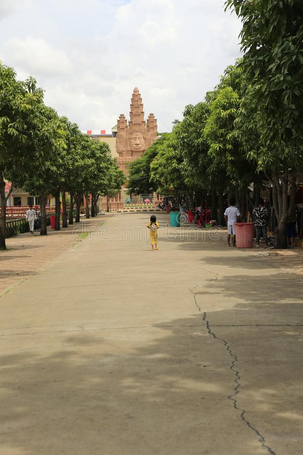 Cambodian Buddhist Centre Phnom Penh. Cambodian Buddhist Centre commemorates the Buddhist religion while describing its history. Located across many hectares in stock image