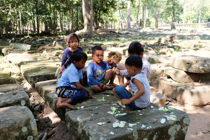 Cambodian children royalty free stock image
