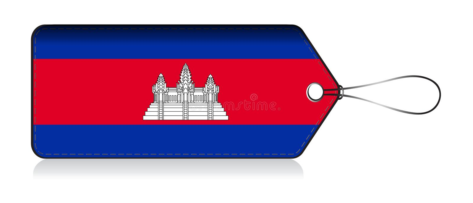 Cambodian emoji flag, Label of  Product made in Cambodia royalty free illustration