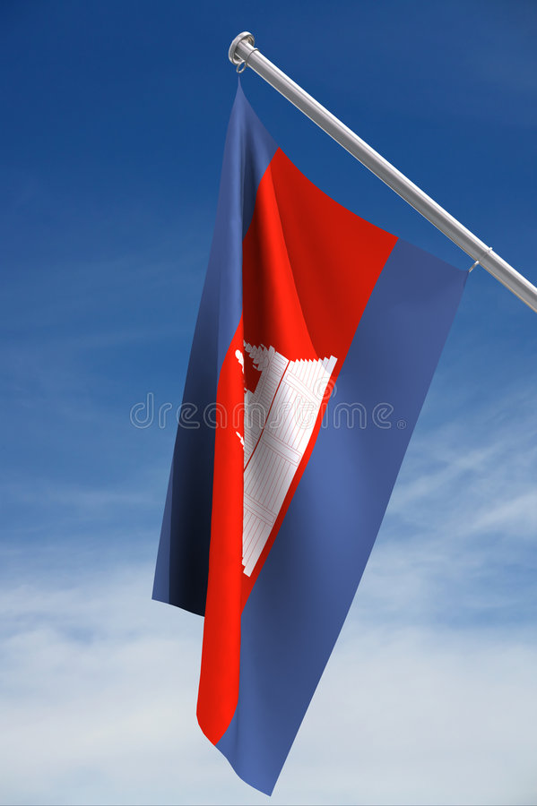 Cambodian flag royalty free stock images