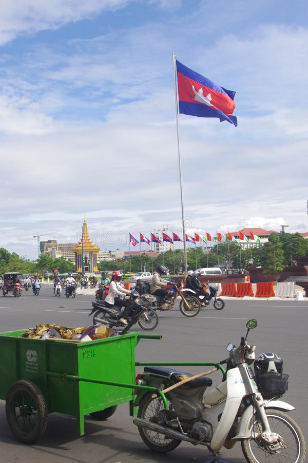 Download Cambodian Flag In Phnom Penh Editorial Image - Image: 39875565