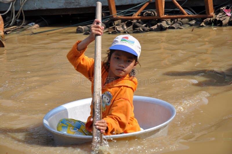 cambodian kids royalty free stock photo