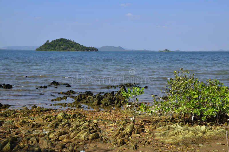 Download Cambodian Mainland From Rabbit Island Stock Image - Image: 24530839