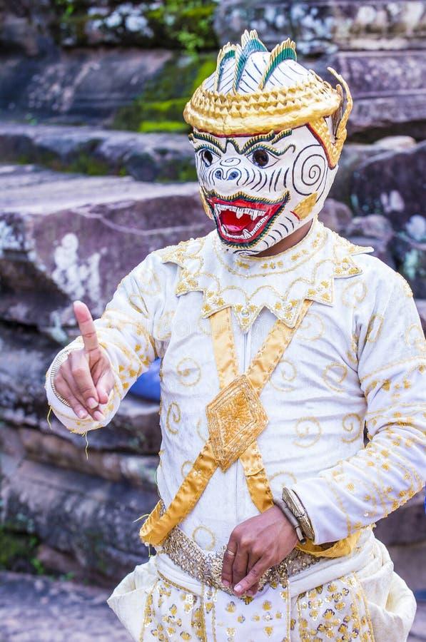 Cambodians Apsara dancers royalty free stock photo