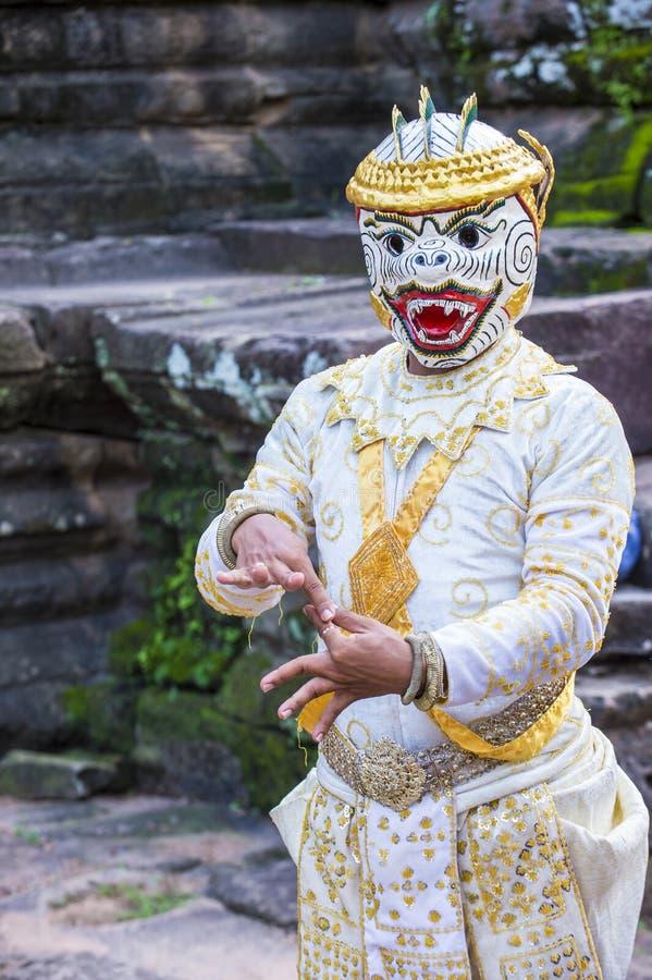 Cambodians Apsara dansers stock foto's