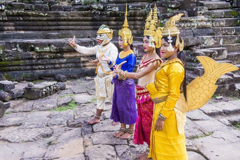 Cambodians Apsara dansers stock afbeelding