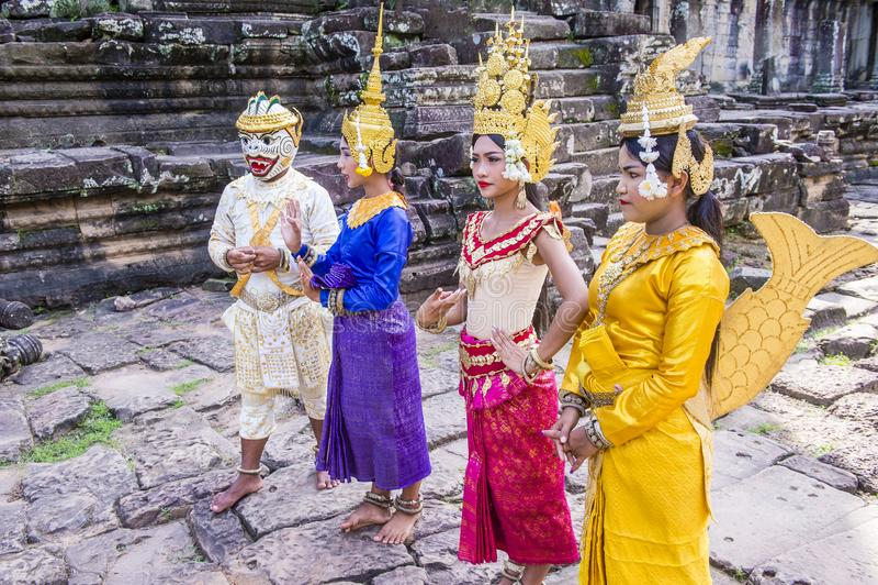 Cambodians Apsara tancerze obrazy stock