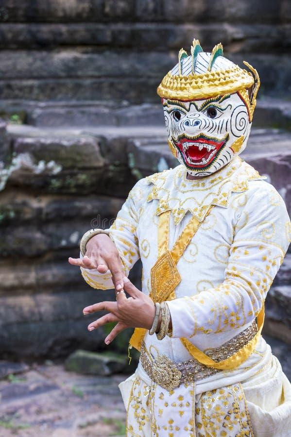 Cambodians Apsara tancerze zdjęcia stock