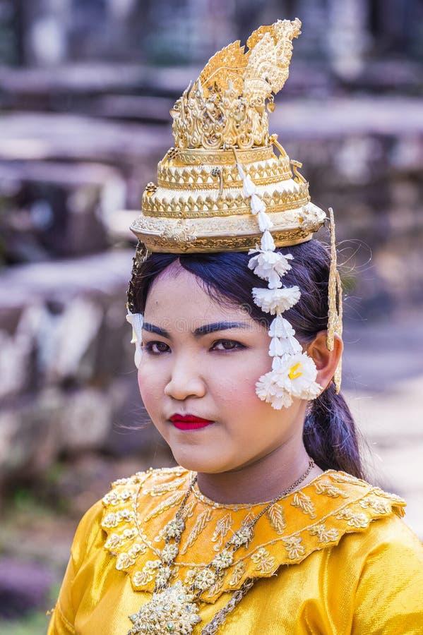 Cambodians Apsara tancerze zdjęcie stock