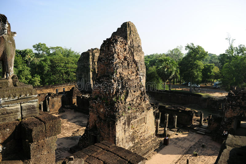 Cambodias古老宫殿 免版税库存照片