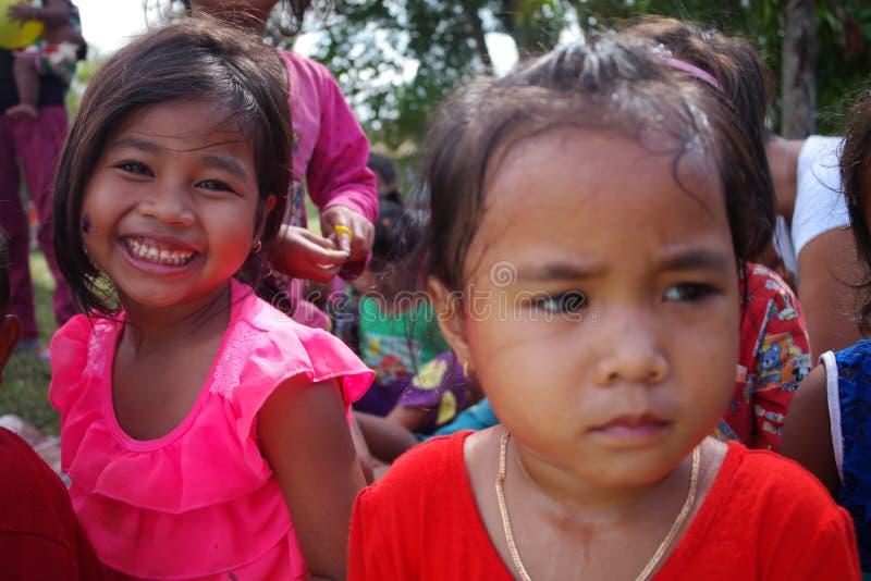 Cambodja barn royaltyfria bilder