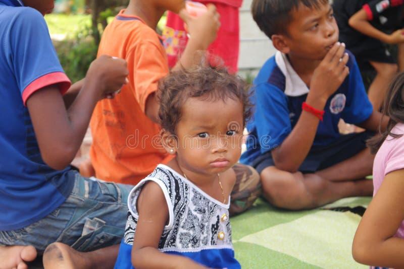 Cambodja barn royaltyfri fotografi