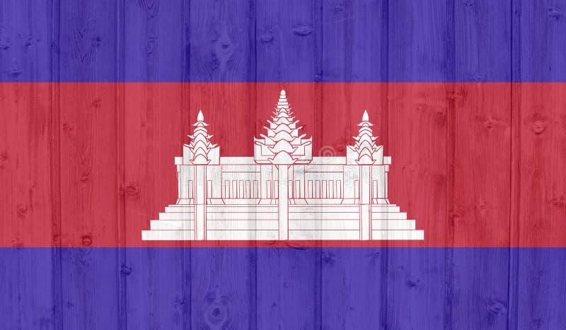 Cambodja flagga vektor illustrationer