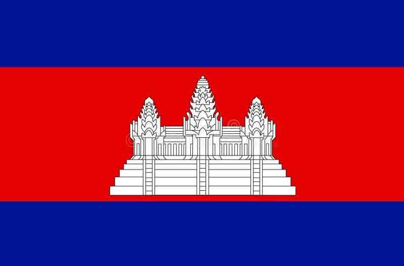 Cambodja flaggavektor Illustration av den Cambodja flaggan vektor illustrationer