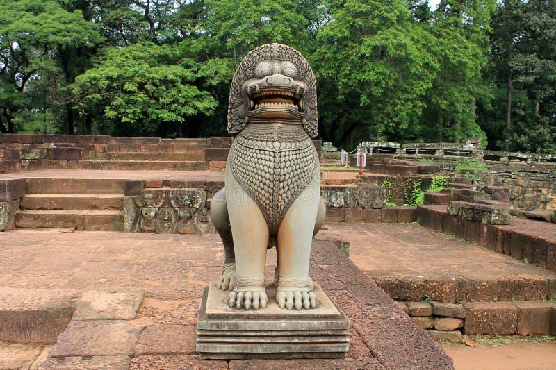 Cambodja Siem Reap elefantterrass royaltyfria bilder