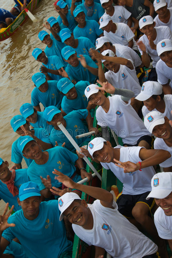 Camboja Dragon Boat Racing fotografia de stock royalty free