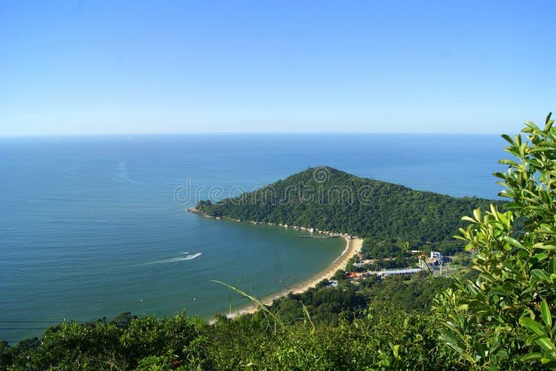 Camboriu海滩/巴西的看法 库存图片