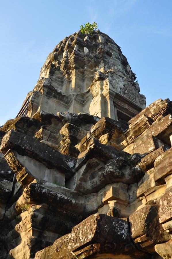 Camboya - opinión del primer del templo de Angkor Wat imagenes de archivo