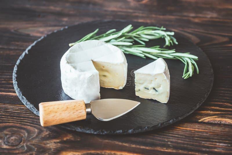 Cambozola ser w górę obrazy royalty free
