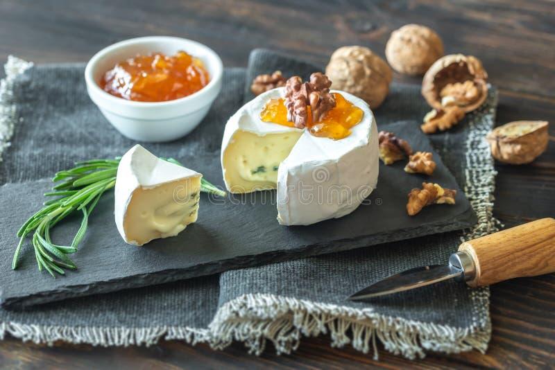 Cambozola ser w górę obraz stock