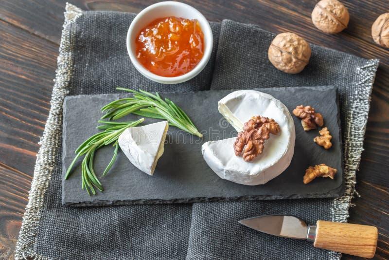 Cambozola ser w górę obrazy stock