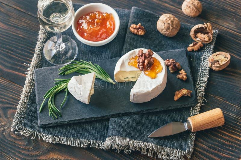 Cambozola ser w górę zdjęcie stock