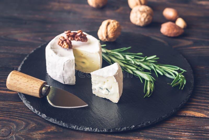 Cambozola ser w górę fotografia stock