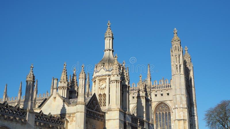 Cambridge, Angleterre Vues de College Chapel du Roi de l'université de Cambridge images libres de droits