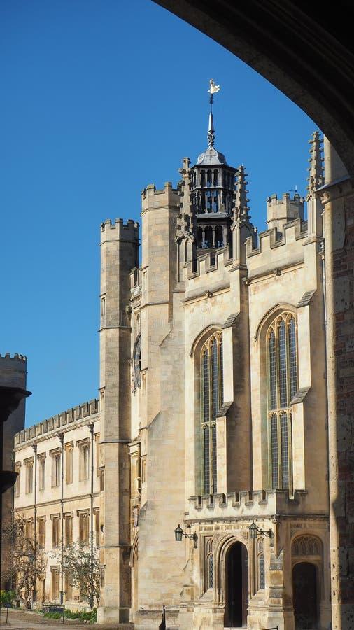 cambridge Anglii Widoki dziejowi budynki uniwersytet obrazy stock