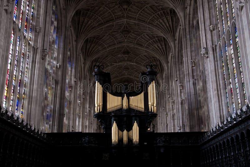 cambridge chórowi szkoła wyższa królewiątka uniwersyteccy fotografia royalty free