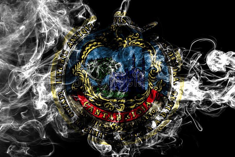 Cambridge city smoke flag, Massachusetts State, United States Of America royalty free stock photography