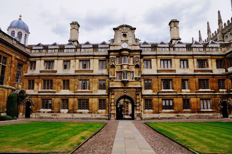 cambridge clare högskolauniversitetar royaltyfri bild