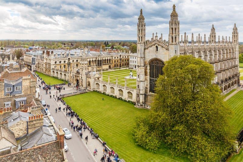 Cambridge in de lente royalty-vrije stock afbeelding
