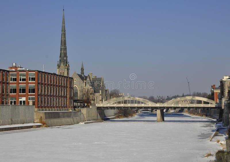 Cambridge Galt no inverno foto de stock