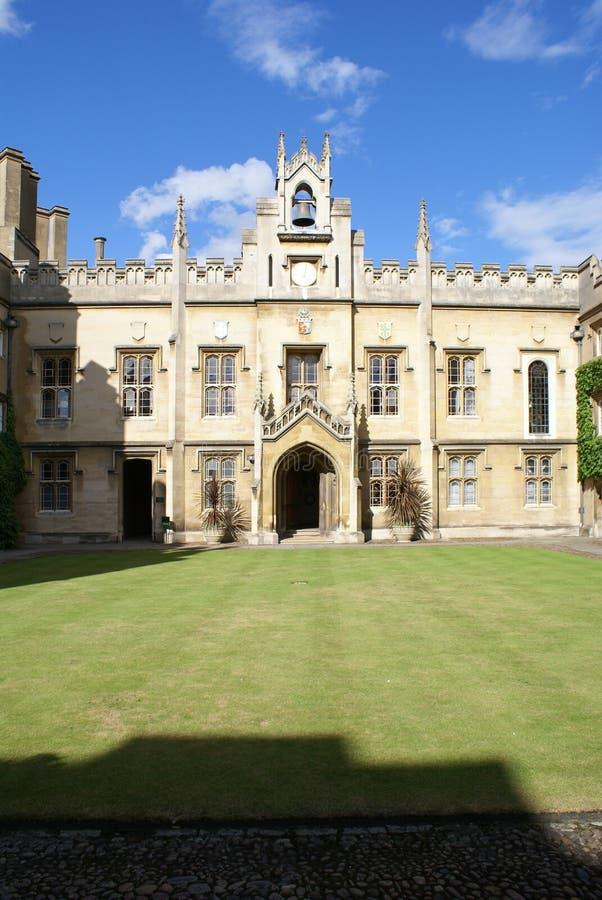 cambridge högskolasidney sussex universitetar royaltyfri foto