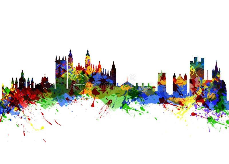 Cambridge Inglaterra ilustração royalty free