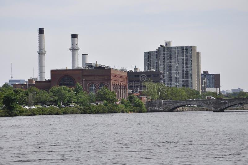 Cambridge, 30 Juni: De Stadspanorama van Cambridge van Charles-rivier in Massachusettes-staat van de V.S. stock fotografie