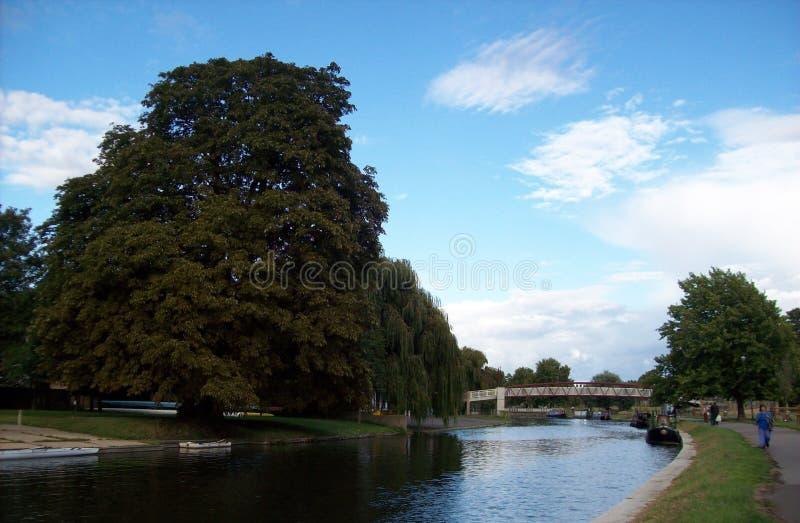 Cambridge kanal i en sommardag royaltyfria bilder