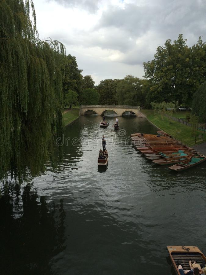 Cambridge landskap royaltyfria bilder