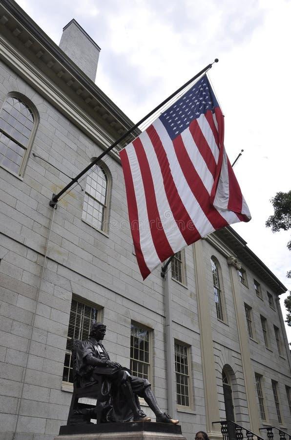 Cambridge MA, 30th june: John Harvard Statue from Harvard Campus in Cambridge Massachusettes State of USA. John Harvard Statue from Harvard Campus in Cambridge royalty free stock image