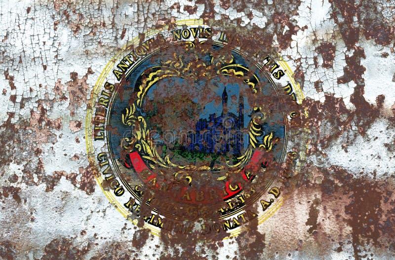Cambridge miasta dymu flaga, Massachusetts stan, Stany Zjednoczone obrazy stock