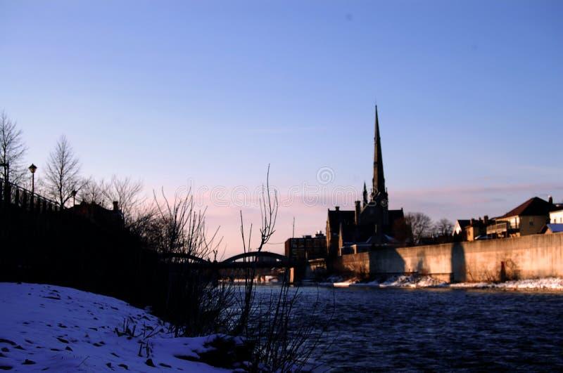 Cambridge morgens lizenzfreie stockbilder
