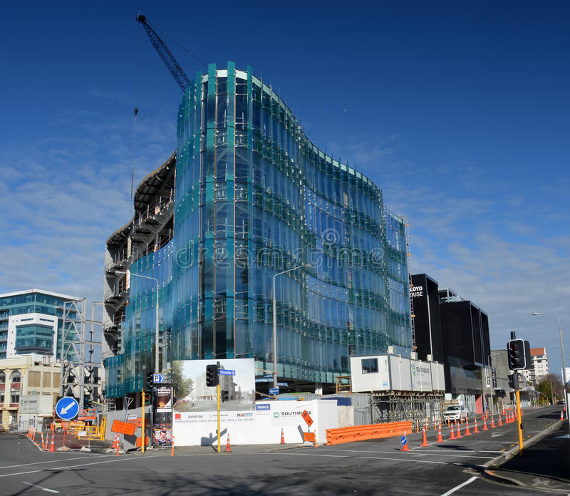 151 Cambridge Terrace Office Building Nears Completion stock images