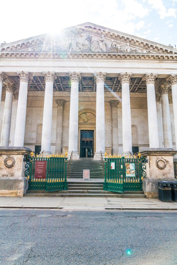 CAMBRIDGE,UK-AUG 28, 2019. Fitzwilliam Museum located on Trumpington Street. The Fitzwilliam Museum is the art and antiquities museum of the University of royalty free stock photos