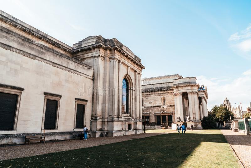 CAMBRIDGE,UK-AUG 28, 2019. Fitzwilliam Museum located on Trumpington Street. The Fitzwilliam Museum is the art and antiquities museum of the University of royalty free stock image