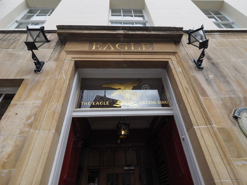 CAMBRIDGE, UK - CIRCA OCTOBER 2018: The Eagle Pub where DNA discovery was announced in 1953 by scientists of the Cavendish. Laboratory royalty free stock photography